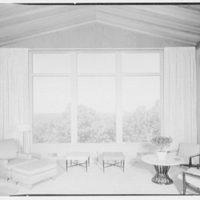 Mr. and Mrs. Oscar M. Ruebhausen, residence on Charles Rd., Mount Kisco. Big window
