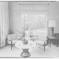 Mr. and Mrs. Oscar M. Ruebhausen, residence on Charles Rd., Mount Kisco. Living room, window detail