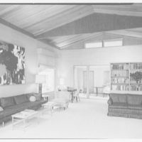Mr. and Mrs. Oscar M. Ruebhausen, residence on Charles Rd., Mount Kisco. Living room, general view