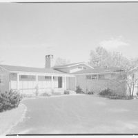 Mr. and Mrs. Oscar M. Ruebhausen, residence on Charles Rd., Mount Kisco. West facade, from parking space
