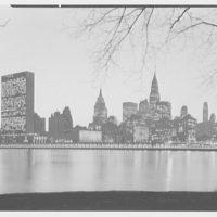 New York City views. Midtown from Welfare Island, 4:50 p.m.