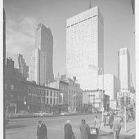 Socony Mobil Building, New York City. From 3rd Ave. and 39th St. I