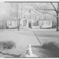 Stedman Hanks, residence in Locust Valley, Long Island. Axis view