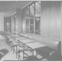 Terrace Restaurant, Fred Harvey Corp., Capital Ct., Milwaukee, Wisconsin. To bar tables