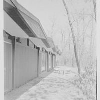 Anthony Ellner, Jr., residence on Hilltop Rd., Syosset, New York. Rear facade from left