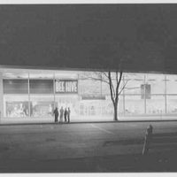 Bee Hive department store, business in Patchogue, Long Island. Night, exterior