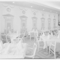 Continental Restaurant, Paramus, New Jersey. Main dining room to screen