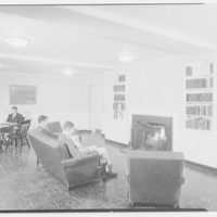 Deerfield Academy, Old Deerfield, Massachussetts. Living room, with students