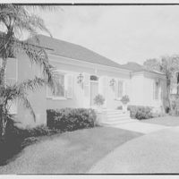 Marcus Beebe, residence in Hobe Sound, Florida. Entrance facade II