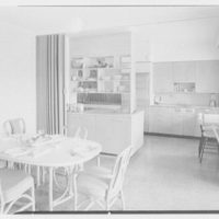 Mr. and Mrs. Frederick M. Warburg, residence in Stamford, Connecticut. Kitchen, to dining room section