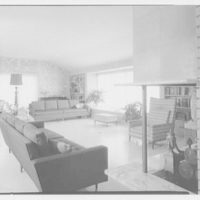 Mr. and Mrs. Martin P. Rubin, residence at 35 Clem Conover, Deal, New Jersey. Living room from hall