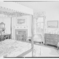 Mrs. Nelson Doubleday, residence in Mill Neck, Long Island. Bedroom, from door