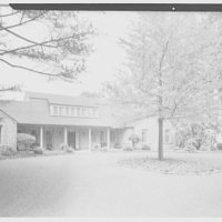 Mrs. Nelson Doubleday, residence in Mill Neck, Long Island. Entrance court from left, soft light