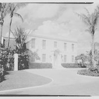 Samuel A. Peck, residence at 101 Jungle Rd., Palm Beach, Florida. Entrance facade, from left