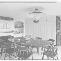 William Snaith, residence on Georgetown Rd., RD 3, Georgetown, Connecticut. Dining room