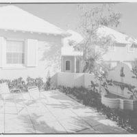 Albert D. Williams, residence in Naples, Florida. Patio