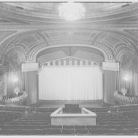 Capitol Theater, Broadway and 51st St. View to proscenium arch from balcony
