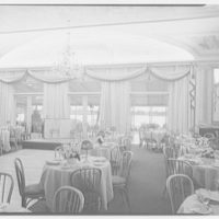 Celebrity Room, Playhouse, Palm Beach, Florida. View to Lake Worth through dining room