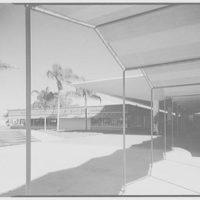 Cortez Plaza Shopping Center, Bradenton, Florida. Through awnings