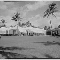 Dr. and Mrs. Leon Levy, residence at 1409 S. Ocean Blvd., Palm Beach. General west facade from west