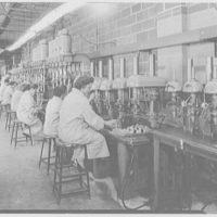 Dyna-Empire, Stewart Ave., Garden City. Drill presses with girls