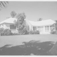 Everett E. Hunkins, residence on Galleon Dr., Port Royal, Naples, Florida. Bay facade II