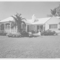 Everett E. Hunkins, residence on Galleon Dr., Port Royal, Naples, FLorida. Bay facade I