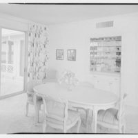 Everett E. Hunkins, residence on Galleon Dr., Port Royal, Naples, Florida. Dining room