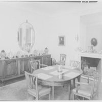 Frederick R. King, residence in Woodbury, Long Island, New York. Dining room