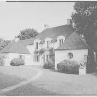 Frederick R. King, residence in Woodbury, Long Island, New York. North facade from right
