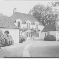 Frederick R. King, residence in Woodbury, Long Island, New York. North facade from left