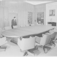 International Business Machine Country Club, Sands Point, Long Island. Seminar room III, with plywood salesman
