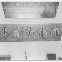 Leonard Haber's office, 8 E. 62nd St., New York. Marquetry panel