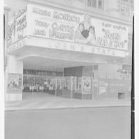Loew's State Theater. Entrance with lighted marquee