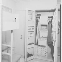 Officers' quarters mock-up. Closet open