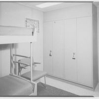 Officers' quarters mock-up. To closet showing ladder to berth