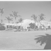 Playhouse, Ponciana Plaza, Palm Beach, Florida. Broad view from southeast