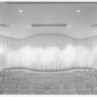 Playhouse, Ponciana Plaza, Palm Beach, Florida. Stage, asbestos curtain down
