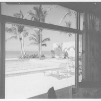 Port Royal Beach Club, Naples, Florida. Through window
