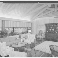 Port Royal Beach Club, Naples, Florida. To corner of lounge
