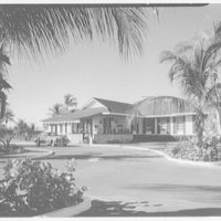 Port Royal Beach Club, Naples, Florida. View of clubhouse from southeast