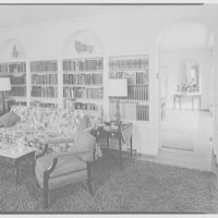 Roland T. Ely, residence at 144 Constitution Dr., Princeton, New Jersey. Living room, to dining room