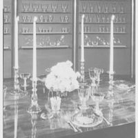 Steuben Glass, business at 717 5th Ave. Table setting