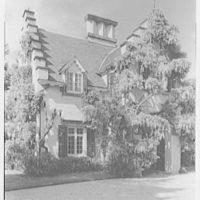 Sunnyside Restoration, Washington Irving House, Tarrytown, New York. Wisteria over entrance I, 3 p.m.