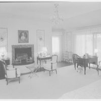 William R. Coe, residence in Mill Neck, Long Island. Interior