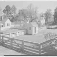 Williamsburg, Virginia, Tayloe house. Rear garden from Nicholson St. I