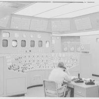 Bergen generating station, Ridgefield, New Jersey. Control room