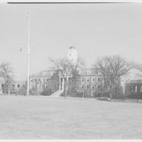 Coast Guard Academy, New London, Connecticut. General view to flagpole