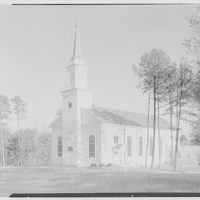 First Methodist Church, Elkin, North Carolina. Church and spire
