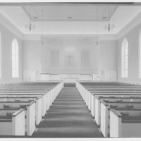 First Methodist Church, Elkin, North Carolina. Interior, to chancel